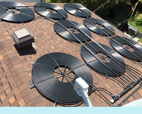 Installation de chauffe piscine solaire residentiel ou commercial - Chauffe eau solaire pour piscine ...